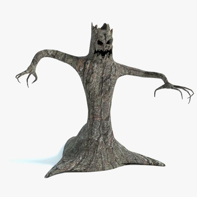 3d model tree monster