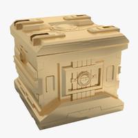 3d model box sci fi