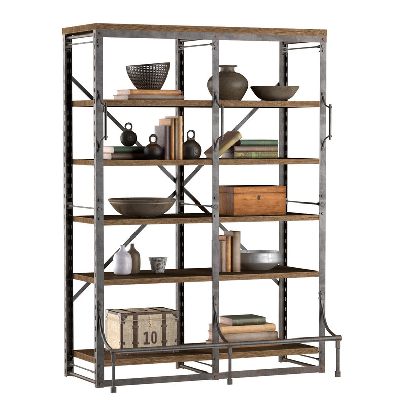 3d french library wide rack