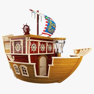 3d children s ship model