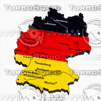 3d political germany model
