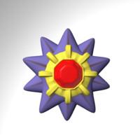 starmie pokemon 3d model