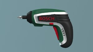 3d model bosch cordless screwdriver