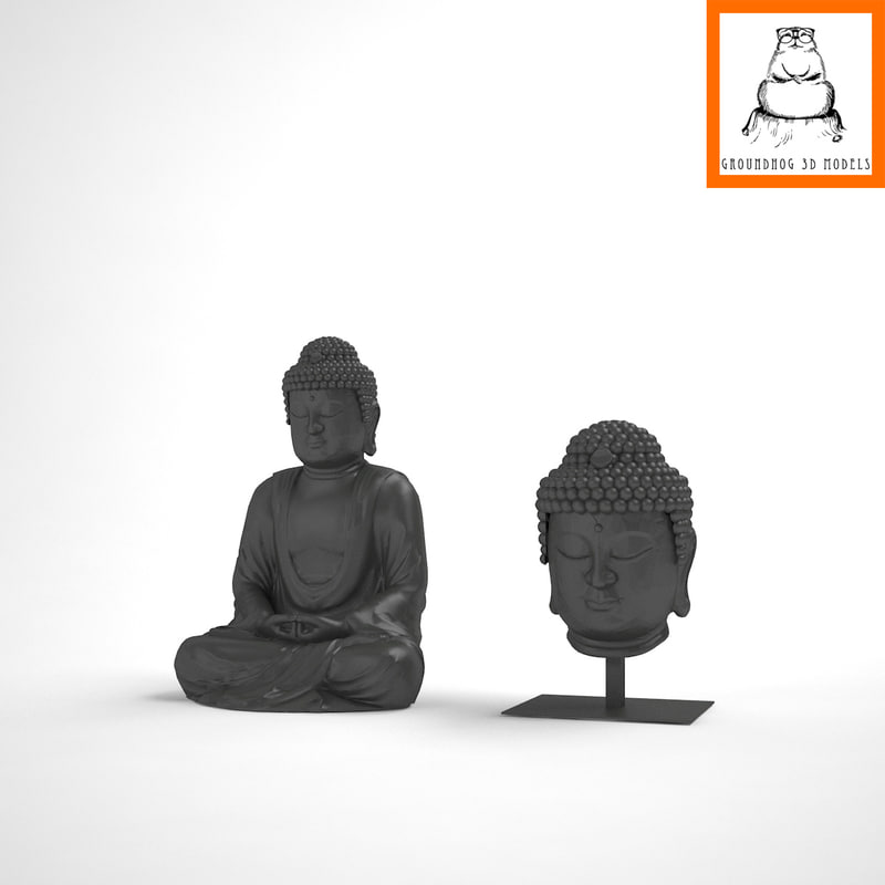 3d groundhog | buddha body model