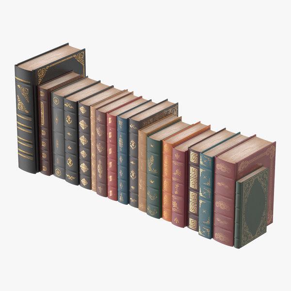 classic library book set design max