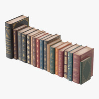 classic library book set design max