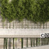 3d model bamboo tree 2