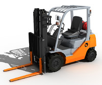 3d model forklift lifting