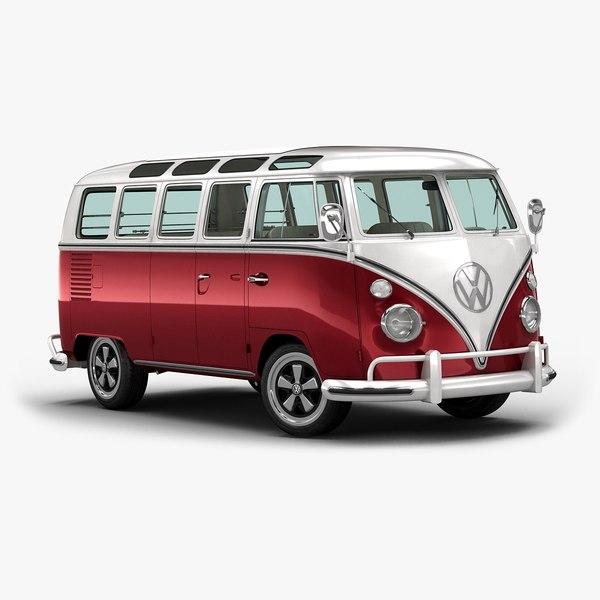 1967 classic bus interior 3ds