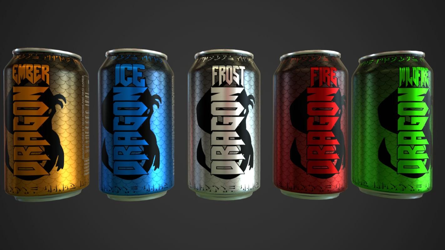 dragon beverage 3d obj