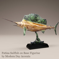 3d model patina sailfish modern