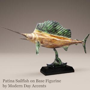 3d model patina sailfish modern