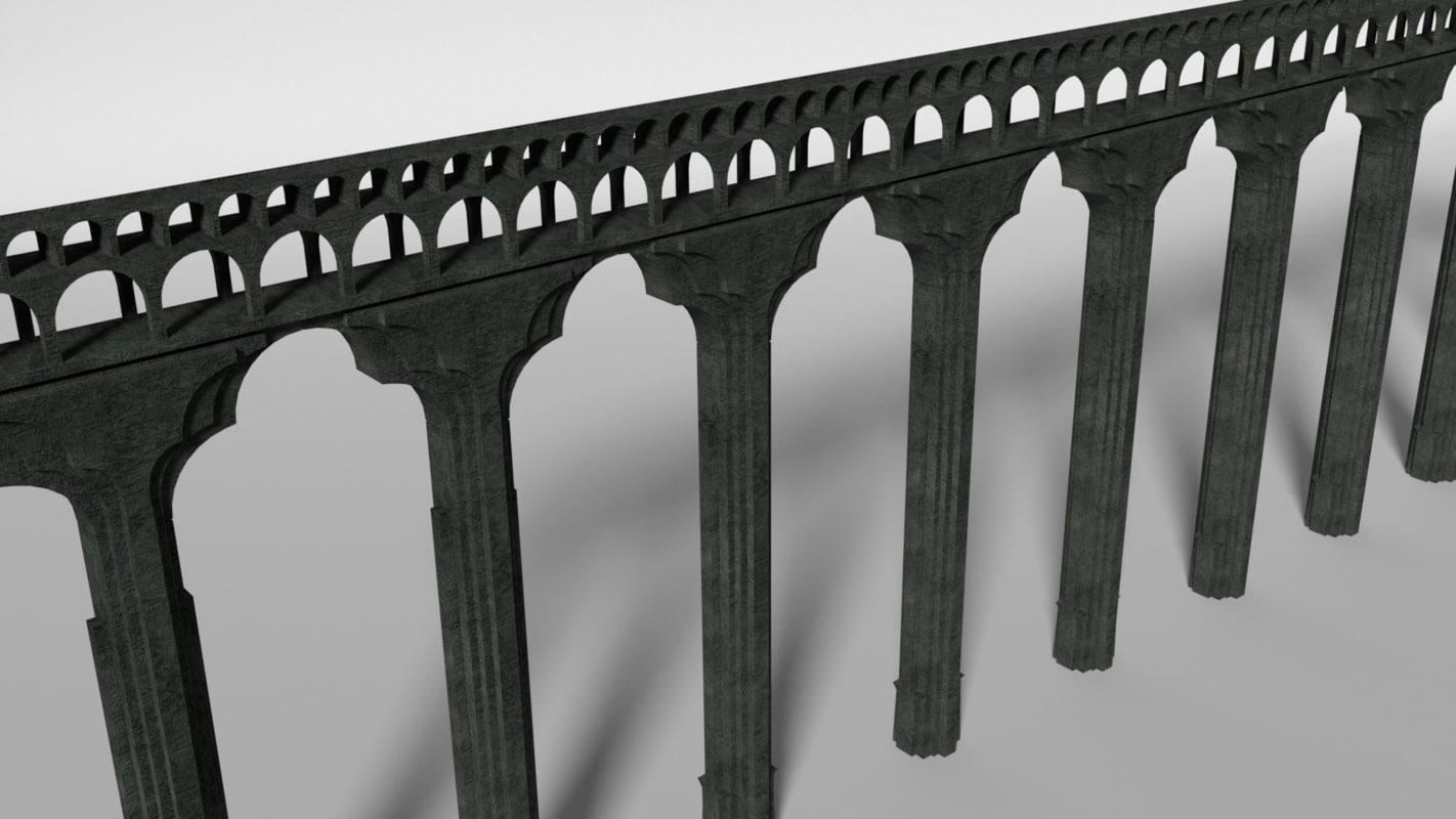3d model ancient aqueduct section