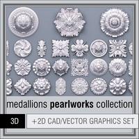 3d 1d pearlworks medallions model