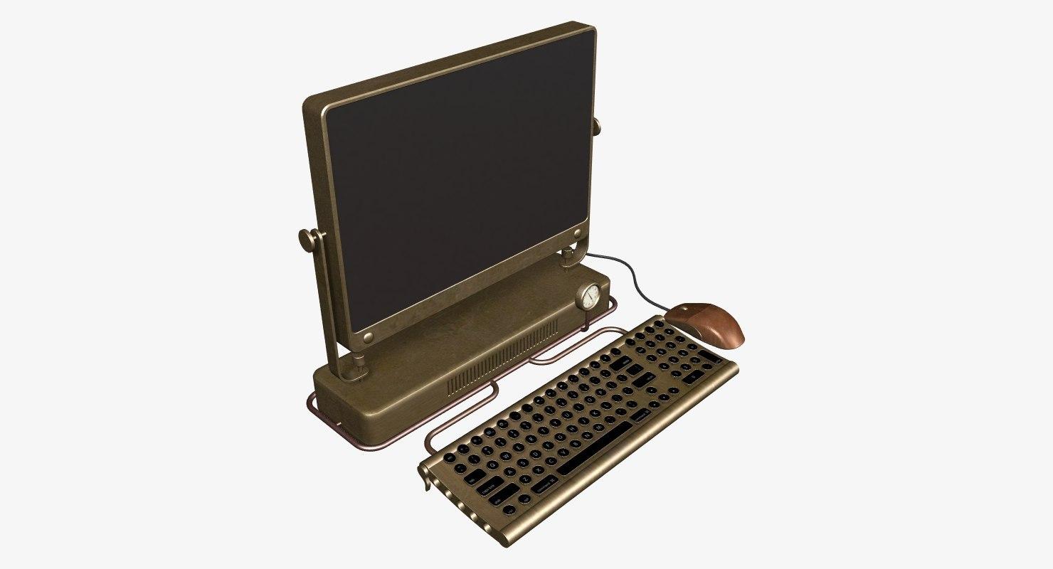 computer steampunk 3d max