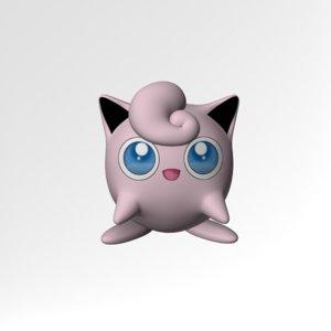 jigglypuff pokemon 3d obj