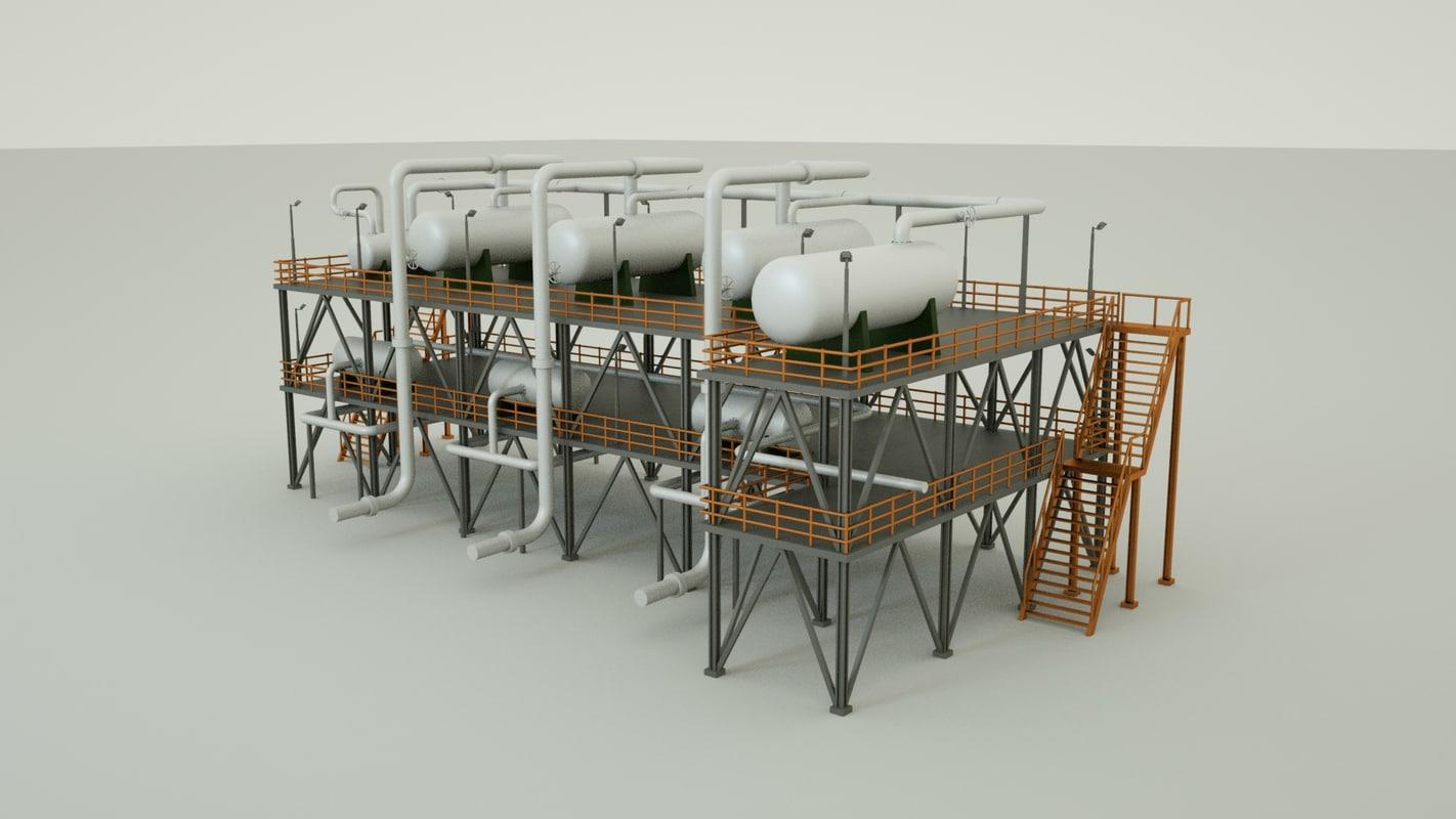 natural gas building c4d