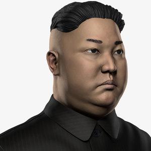 bust kim jong-un 3d model