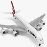 airbus a380-1000 qantas 3d model