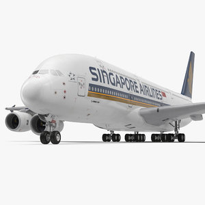 3d max airbus a380-1000 singapore airlines