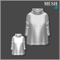 3d sweater white model