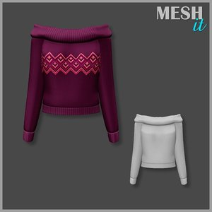 3ds sweater purple