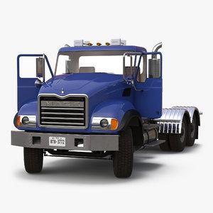 truck mack rigged 3d model
