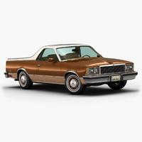 1978 chevrolet el camino 3d model