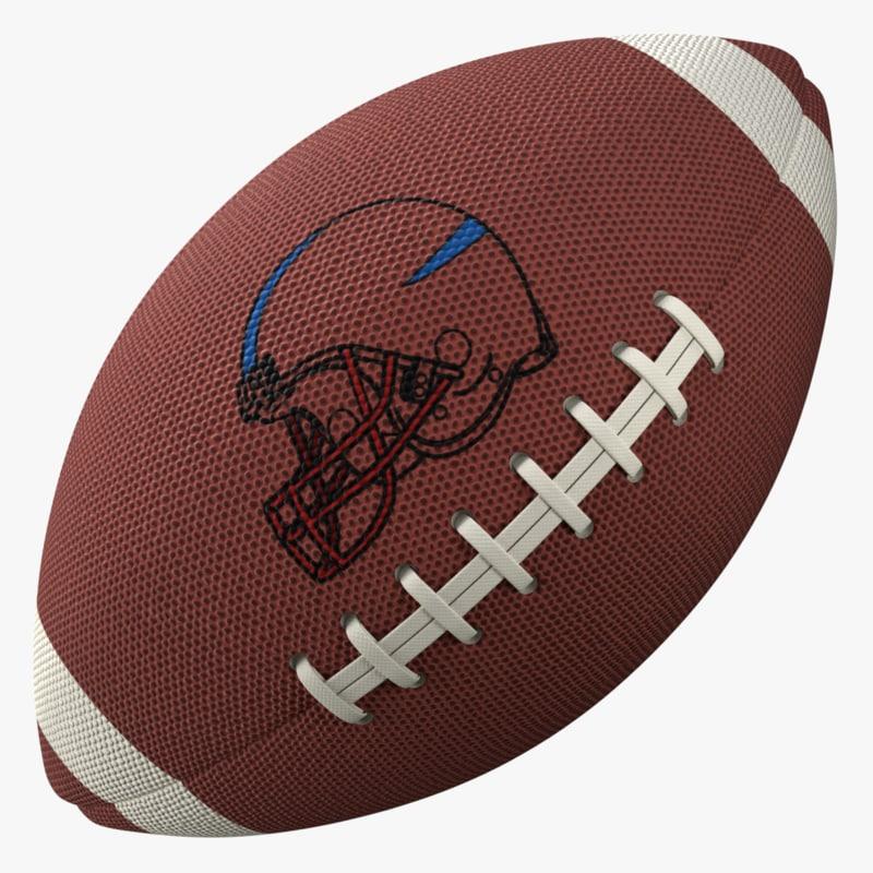 3d model american football ball