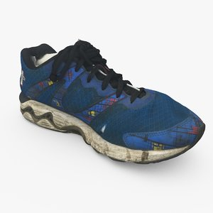 weathered running shoes c4d