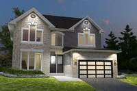 3d black house model