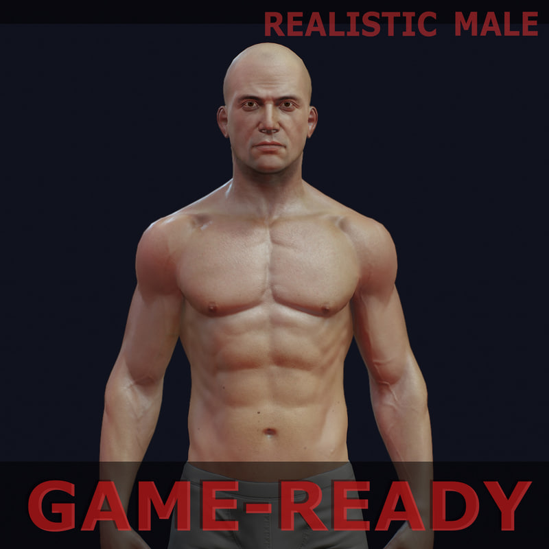 3d model male gameready