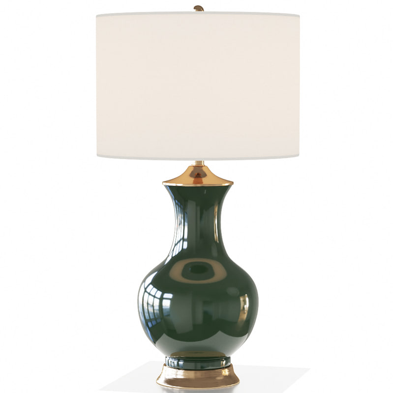 lilou table lamp green 3d model