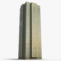 tall building entrance area 3d model