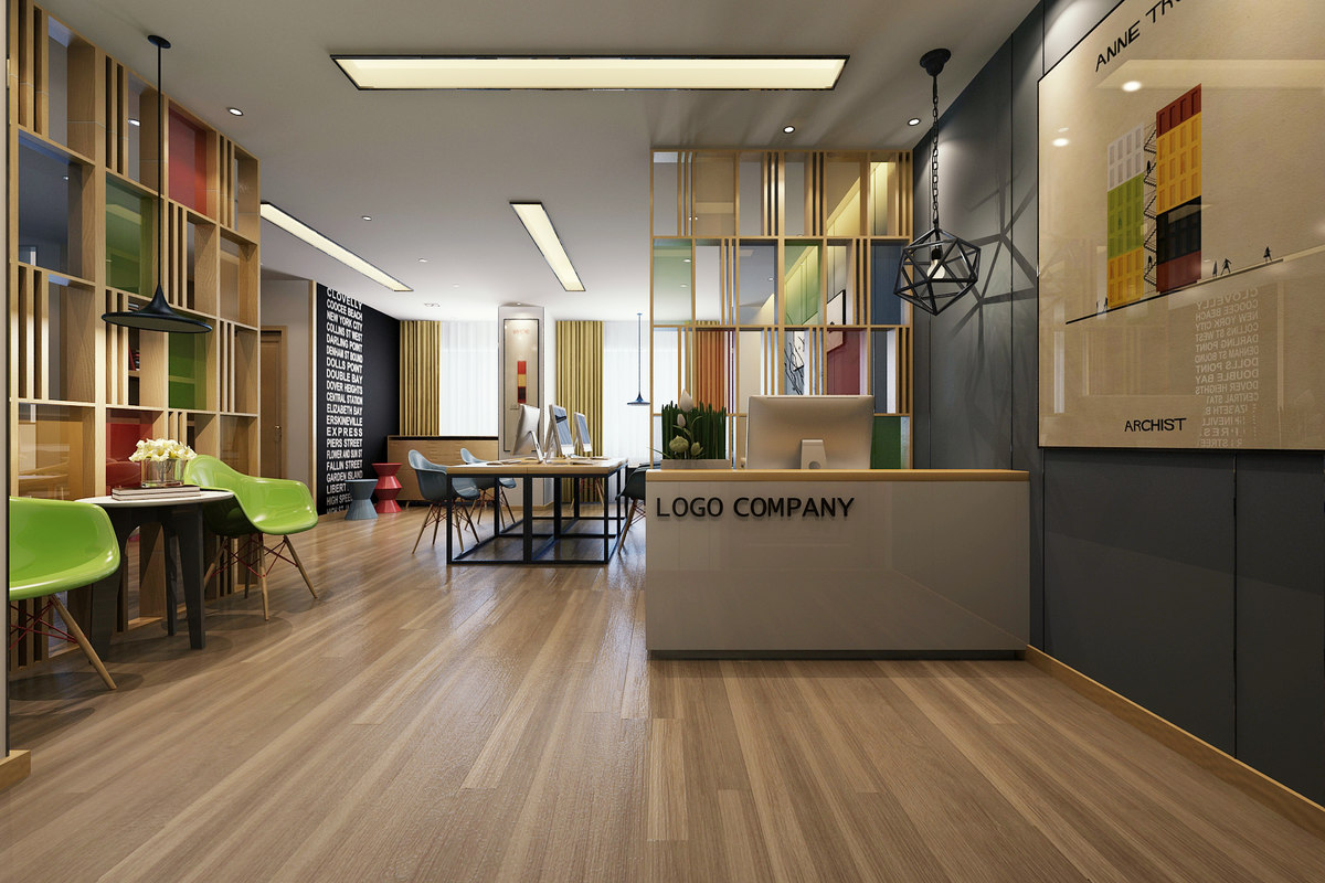 3d model of modern office interior design