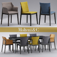 chair molteni breva 3d model