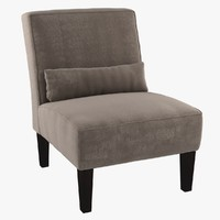 3d chair custom armless lounge model
