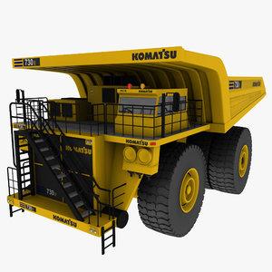 komatsu mining truck 3d max