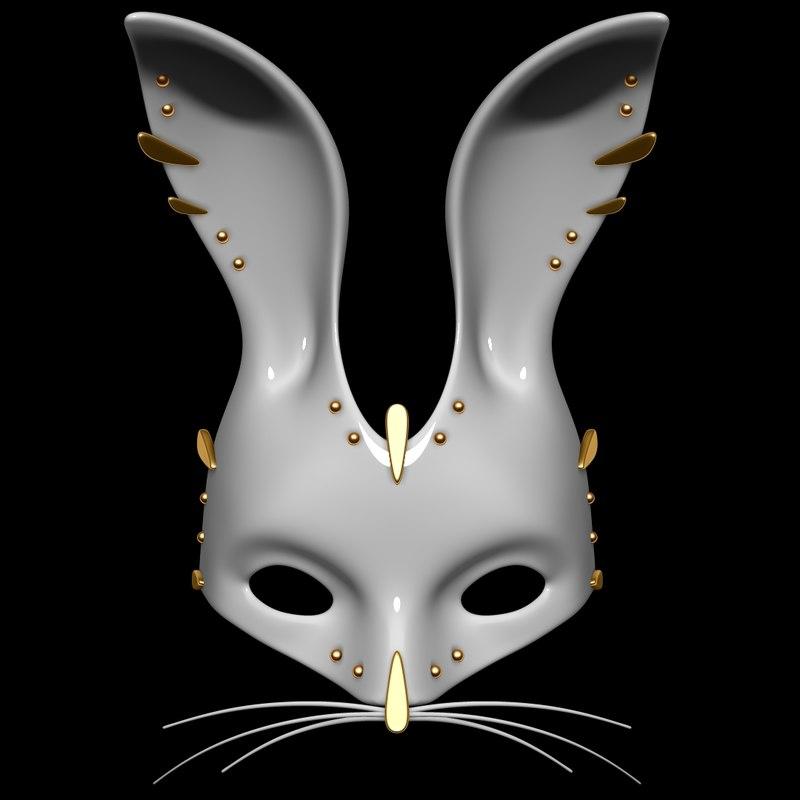 3d model bunny mask