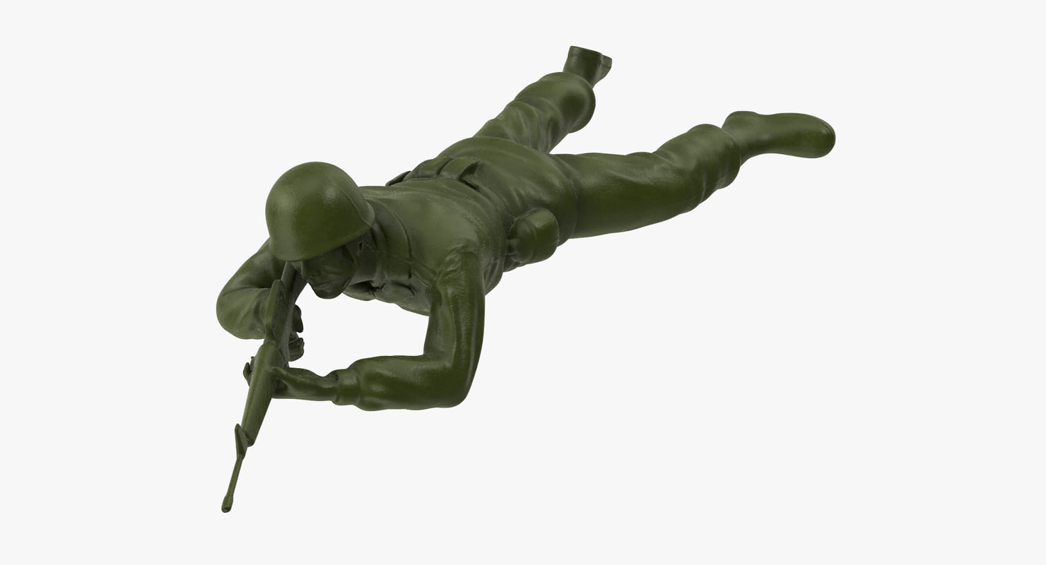 plastic toy soldier 01 3d model