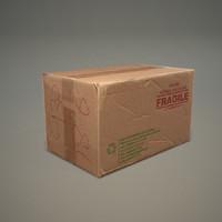 3d 3ds cardboard box