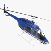 bell 206 jetranger rigged 3d model