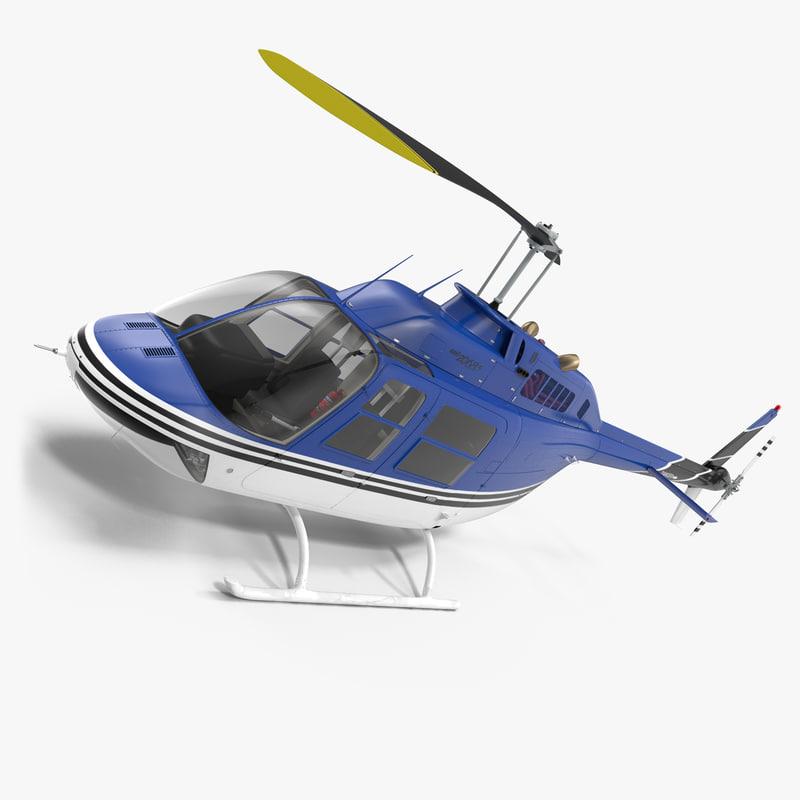 bell 206 jetranger 3d model