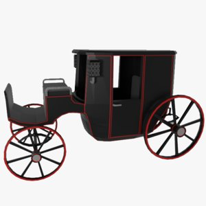 3d x 19th century carriage