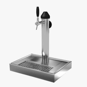 3d beer tap