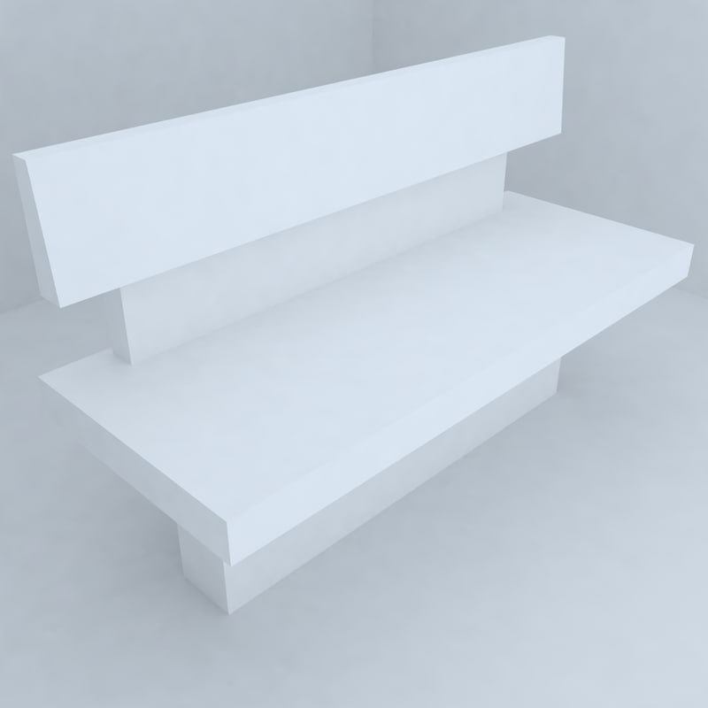 3d park benches