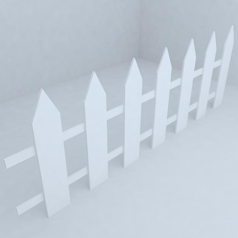 3d fence railing model
