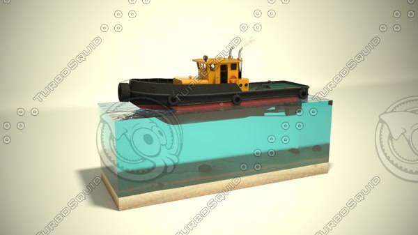 river tugboat c4d