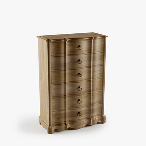 3d model corsica drawer chest