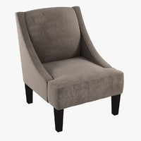 custom lounge armchair beige 3d 3ds